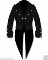 Cotton Mens Tailcoat Steampunk Goth Victorian Swallowtail Jacket