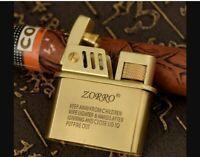 Retro Kerosene Lighter Brass Oil Rotary Style Wheel Kerosene Lighter,Oil