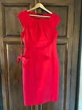 Coast Dress - Size 10 - Red - Pencil Style - Removable Bow