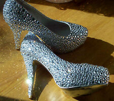 DIAMOND CRYSTAL COURT SHOES - UK SIZE 5 (38) MUST SEE!