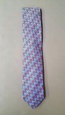 Missoni Men's 100% Silk Necktie, Zig Zag Pattern, Red/White/Blue, OS