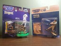 Mo Vaughn and Jim Edmonds Starting Lineup Figure Lot with cards new in box