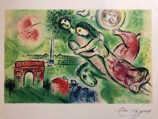 """Marc Chagall, """"Romeo e Giulietta"""" 31x43 litografia, Sorlier 1975 - 300 es."""