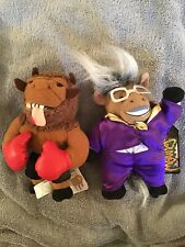 Vntg Infamous Meanies Donkeying & Mike Bison Plush 1998 with Tags 7