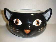 NEW Hallmark Halloween Black Cat candy dish