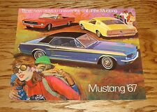 1967 Ford Mustang Sales Brochure 67 GT Fastback 2+2 Convertible Hardtop