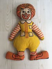 RONALD MCDONALD CLOTH  16INCH VINTAGE 1970'S FIGURE TOY STUFFED  DOLL