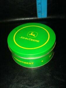 John Deere Coaster and Metal Tin Storage Set Green Yellow Logo