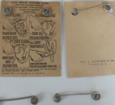 Knife Kitchen 1937 ADVERTISING BELVIDERE NJ Kitchen TOOL PACKAGE PAPER