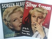Lot Of 2 Magazines RITA HAYWORTH Silver Screen & Screen Album GAIL RUSSELL