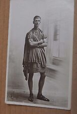 Postcard Real photo Man Dressed As A Roman W H Smith Studio card  unposted