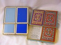 3 Decks Congress Playing Cards Cel-U-Tone Finish Red Persian Rug Blue Bridge