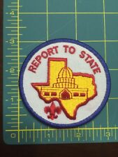 Vintage Boy Scout Report To State Austin,TX Patch Authentic