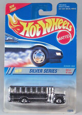 Hot Wheels Ford B Series Conventional School Bus Silver Series Model BW Wheels