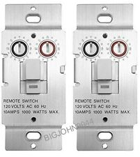 2 PACK X10 WS469 Non-Dimming Pushbutton Relay Switch For Non-Incandescent Loads