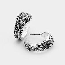 Metal Half Hoop Post Stud Style7 Spoon Earrings Abstract Dangle Bohemian Antique