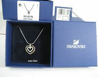 Swarovski Circle Heart Pendant, rhodium-plated clear crystal Authentic 5113776