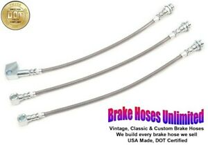 STAINLESS BRAKE HOSE SET Plymouth Gran Fury 1980 1981