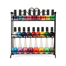 🔥3-8 Tiers Nail Polish Rack Display Stand Organizer Varnish Shelf Metal Mounted