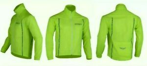 Spex Cycling Jacket Highly Visible HI VIZ Windproof Breathable Light
