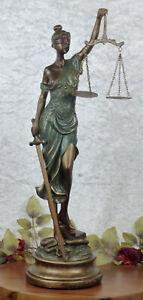 Polyfigur Justitia Figur Gerechtigkeit Göttin Justizia Recht Skulptur Mythologie