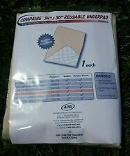 "NEW washable incontinence bed pad quilted waterproof chux 34""x36"" Underpad Hosp"
