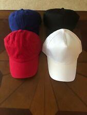 Blank Baseball Caps - Red/Black/Blue/Red
