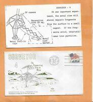 SURVEYOR 4 PROSPECTING TRIP JUL 14,1967  CAPE   SWANSON SPACECRAFT  COVER ***