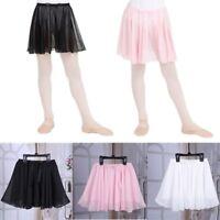 Girl Kid Chiffon Ballet Skirt Child Skate Ruffle Pull-on Mini Dress Party Dress