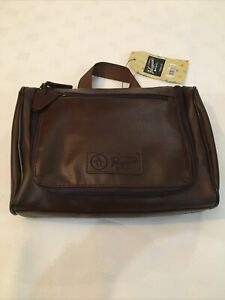 Penguin Travel Toiletries / Gadget Charger Case Brown Tan Bag NEW with Tag