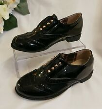 scarpe bambina Nero tg. 25 Ballerine LACCA elegante nuovo Pantofola SANDA