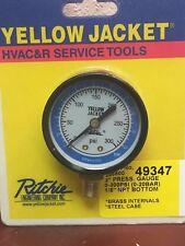 """Yellow Jacket, Ritchie, Gauge 2"""" Press. Gauge 0-300 PSI (0-20 BAR) 1/8 NPT"""