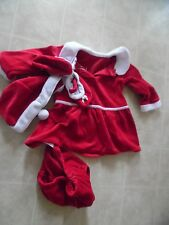 Toddler Baby Girls Christmas Santa Claus Costume Dress Hat Shoes Outfit Xmas 18M