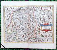 XVII ème - Duché de Savoie Superbe Carte par Janssonius 54 x 47 cm Editée 1636