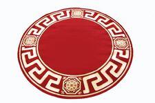 Teppich Rund Kunst Seide Mäander Medusa Möbel rot Carpet. 200 cm ∅ versac