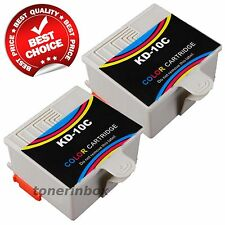 2 Pack #10 Color Ink for Kodak 10 C ESP 3200 3250 5200 5250 7250 9250 Printer