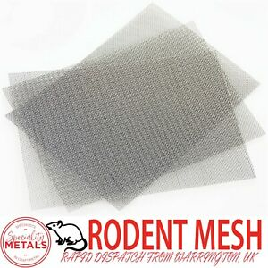 Rodent Airbrick Stainless Steel RatMesh(#16x0.4mm Wire) A4 Sheet 200 x 300mm x 3
