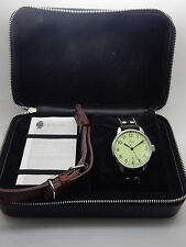 Mens LACO by LACHER Automatic Date S. Steel 42.5mm Wrist Watch w/box & booklet