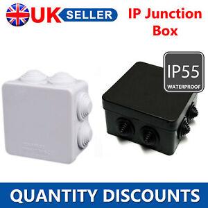 IP JUNCTION BOX TERMINAL WEATHERPROOF IP55 WHITE/BLACK FOR INDOOR OUTDOOR CCTV