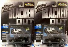 JOHNNY LIGHTNING 1973 PONTIAC FIREBIRD TRANS AM BLACKED OUT FREAKS ( LOT OF 2 )