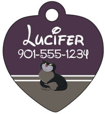 Disney Lucifer Pet Id Cat Tag Personalized w/ Name & Number