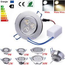 Regulável 9W 12W 15W 27W 36W LED luz de teto embutida para baixo Luminária Lâmpada & Driver