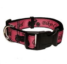 BIKER GIRL MOTORCYCLE ROADHOUSE DOG COLLAR OR ADD MATCHING LEASH