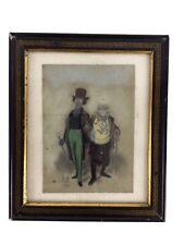 Dessin Pastel Sec Sur Papier Signé Daumier