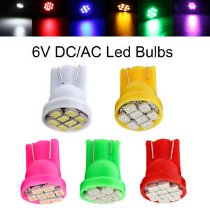 100Pcs DC AC 6V 6.3V T10 W5W 2825 158 192 168 194 Pinball LED Wedge Light bulbs