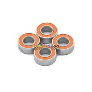 4pcs 4x7x2.5 Hybrid Ceramic Stainless Bearing Oiled S74C 2OS A7