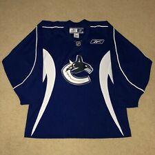 Vancouver Canucks Reebok Practice Hockey Jersey NHL Blue XL Like New