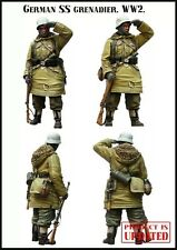 1/35 RESIN MODEL KIT WW2 SS GRENADIER SOLDIER (1 TOP QUALITY MOLDED FIGURE)