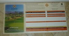 La Quinta Resort Golf Score Card In La Quinta, California-Dunes & Mountain - New