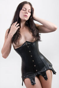 Lamb Leather Underbust Corset